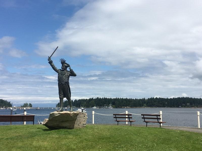 Statue Nanaimo Harbourfront Vancouver Island