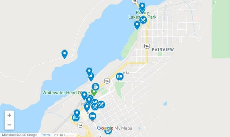 Things to do in Nelson map