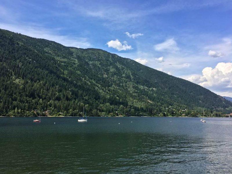West arm of Kootenay Lake at Nelson BC