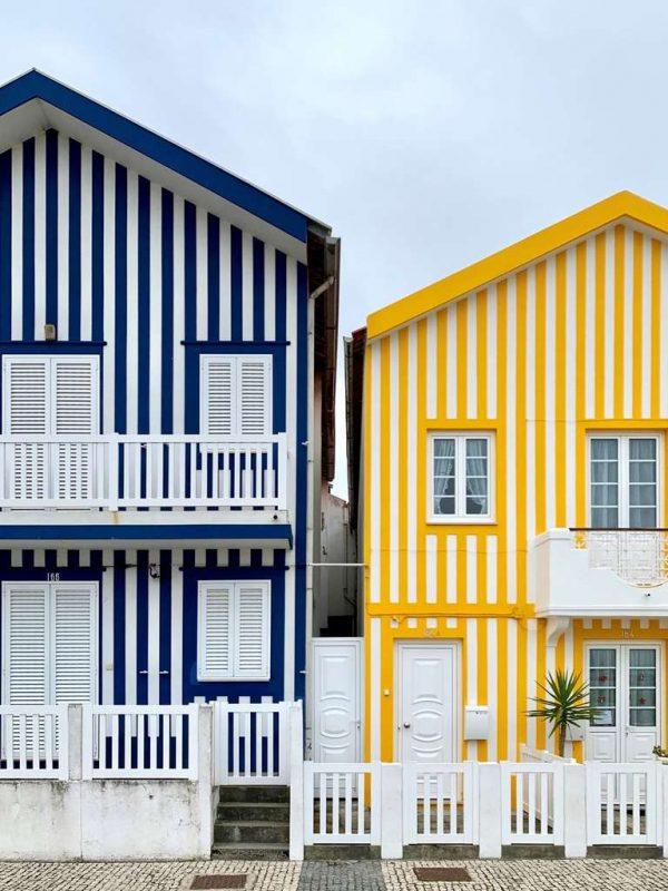 Costa Nova striped houses Portugal