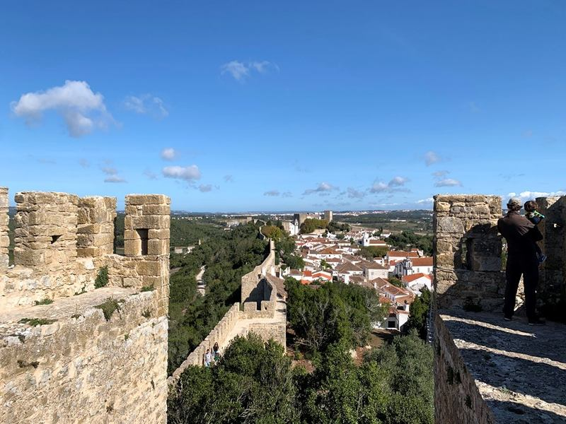 Obidos city walls Portugal