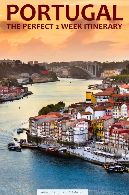 This Portugal road trip itinerary will help you plan the perfect 2 weeks in Portugal! Including the best places to visit, travel tips and more. #Portugal #Lisbon #Porto