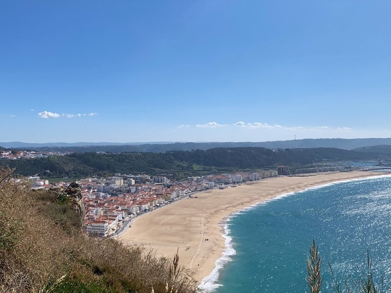 View of Nazare Portugal