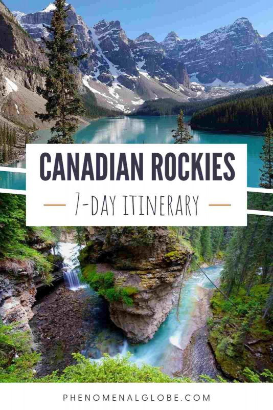 Get ready for the ultimate Canadian Rockies itinerary! This 7-day road trip itinerary includes advice on where to stay, when to visit and what to do in Banff National Park and Jasper National Park. Alberta Canada road trip | Canadian Rockies travel itinerary | Canadian Rockies photography | Canada National Parks photography | Canadian Rockies hikes | Lake Louise | Lake Moraine | Canada Mountains